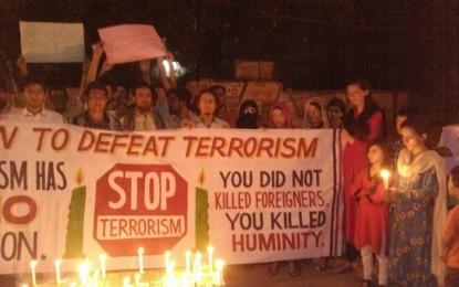 لاہور میں مقیم گلگت بلتستان سے تعلق رکھنے والے طلبہ کا سانحہ نانگا پربت کے خلاف احتجاجی مظاہرہ