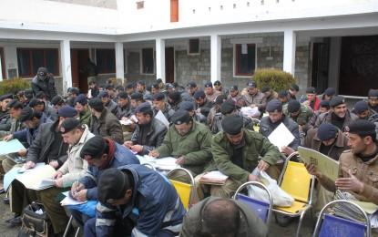 ہنزہ نگر میں پولیس اہلکاروں کا تحریری امتحان