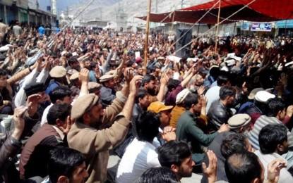 15 اپریل سے جاری دھرنے کی وجہ سے گلگت بلتستان میں معمولاتِ زندگی شدید متاثر