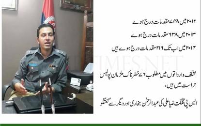 جرائم میں غیر معمولی کمی واقع ہوئی ہے، ایس پی ضیا علی کی میڈیا سے گفتگو