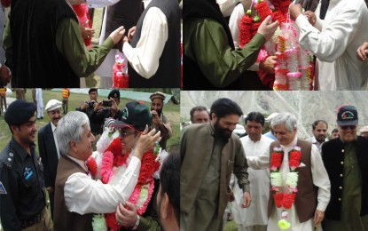 صدر آزاد کشمیر کا ضلع استور میں پرتپاک استقبال