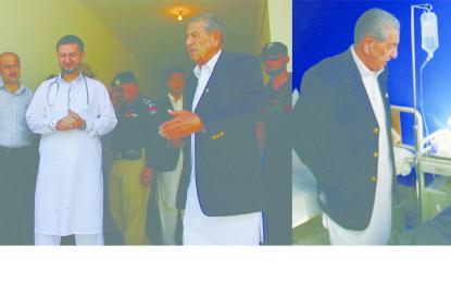 یوم آزادی پر گورنر نے سٹی ہسپتال کا دورہ کیا، صفائی کے ناقص نظام پر برہمی کا اظہار