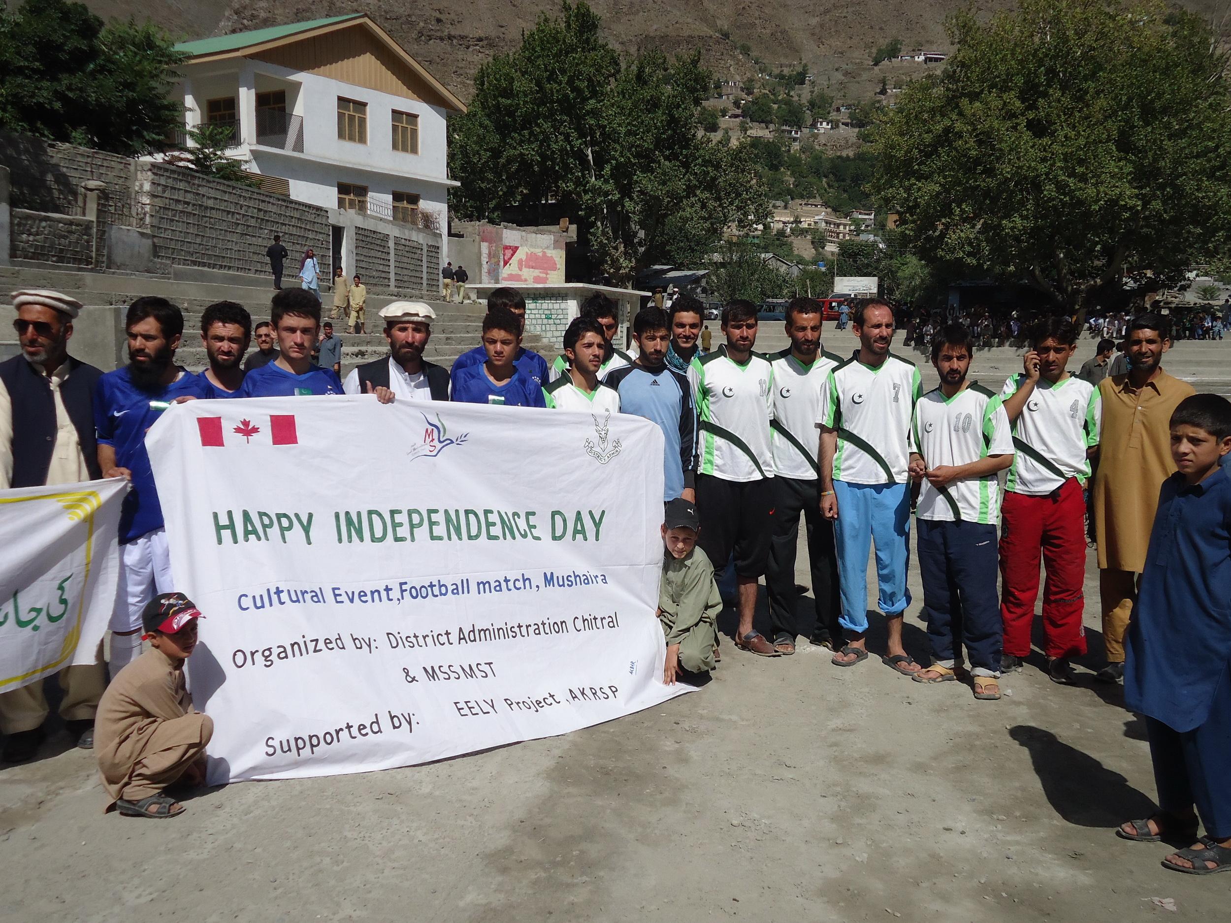 چترال میں یوم آزادی کے موقعے پر فٹبال ٹورنامنٹ کا انعقاد
