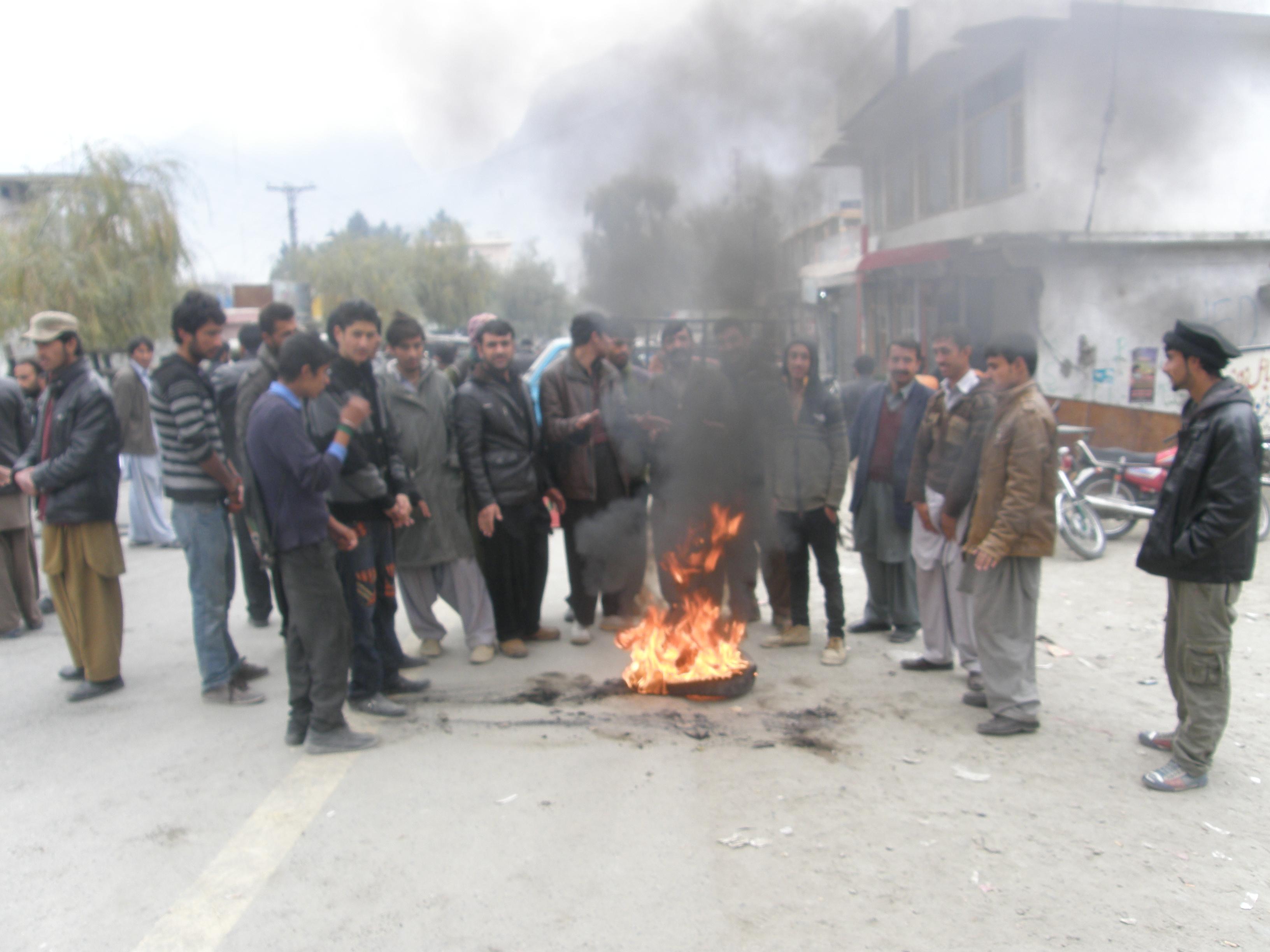 شیخ نواز عرفانی کے قتل کے خلاف گلگت میں احتجاجی مظاہرے