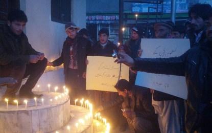 نیشنل سٹوڈنٹس فیڈریشن کے زیر اہتمام گھڑی باغ گلگت میں اجتماع، سانحہ پشاور کی مذمت