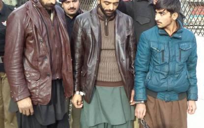 32 لاکھ روپے مالیت کی ڈکیتی کی سنگین واردات کے تین گرفتار ملزماں نے اعتراف جرم کرلیا
