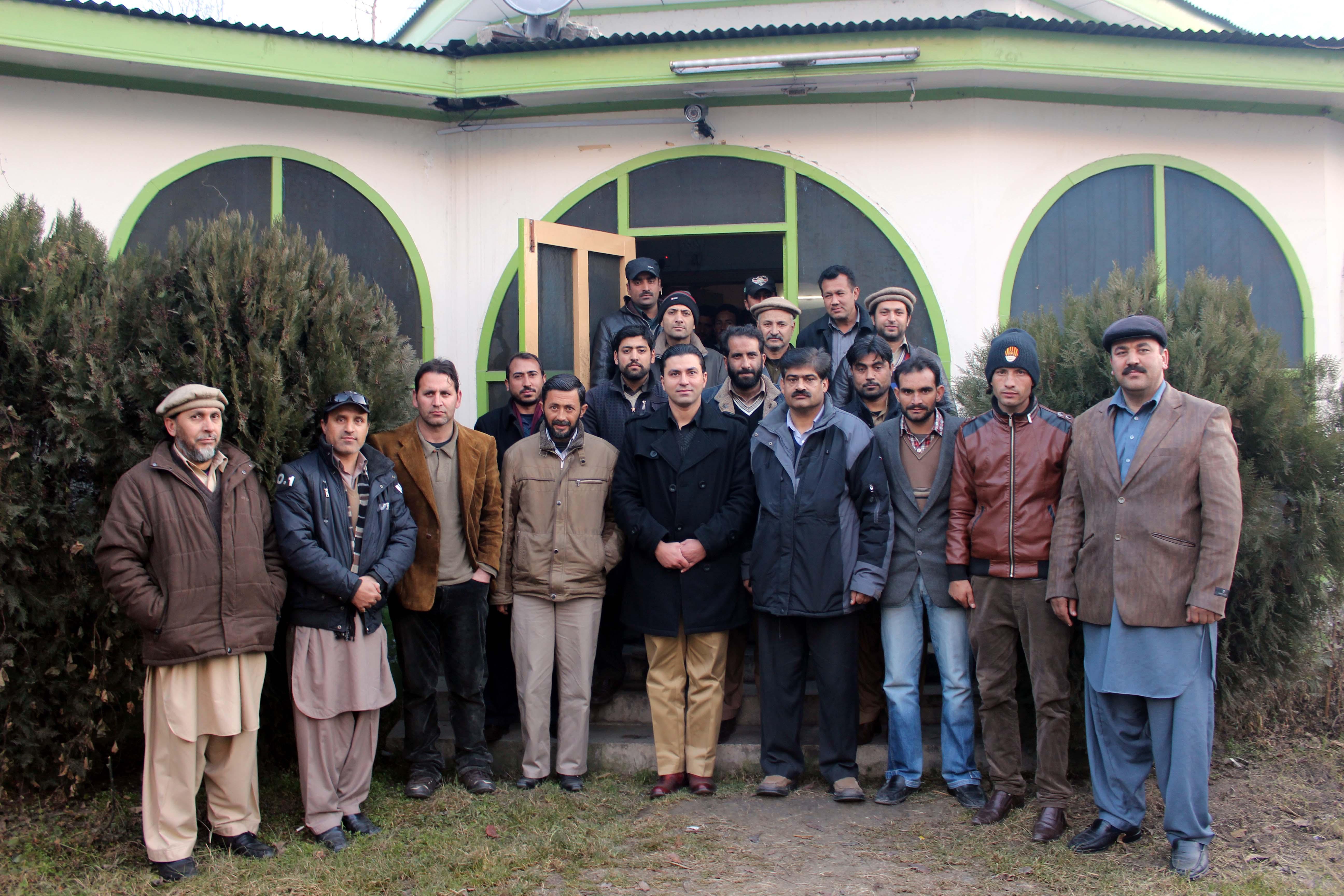 ایس پی ضیا علی کی پریس کلب گلگت میں صحافیوں سے الوداعی ملاقات