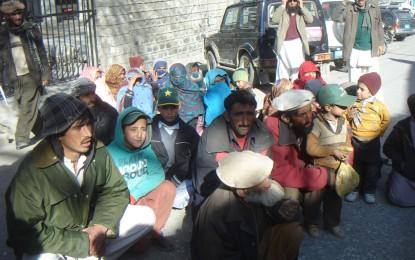 چرائی تناذعہ، سینگور چترال سے بیدخلی کے خلاف گجر برادری کا احتجاجی دھرنا