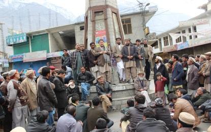 بجلی کی لوڈشیڈنگ کے خلاف عوامی ایکشن کمیٹی کی کال پر گلگت شہرمیں مکمل شٹرڈاؤن ہڑتال