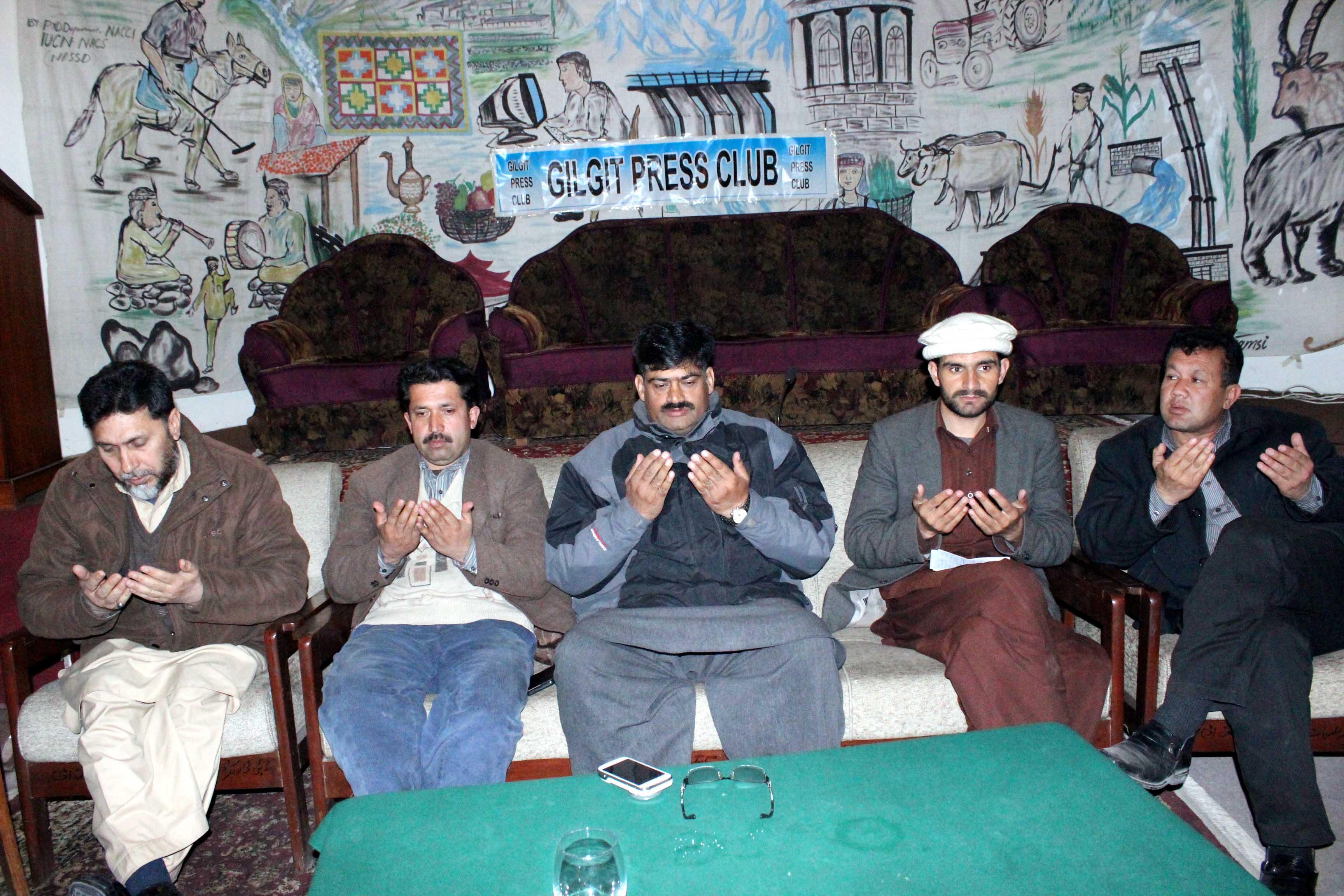 گلگت پریس کلب میں سینئر صحافی سیعد حسن مرحوم کی یاد میں تقریب منعقد