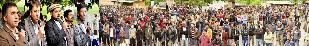 سانحہ کراچی کے خلاف ہنزہ میں احتجاجی مظاہرہ، دہشتگردوں کے خلاف کاروائی کا مطالبہ