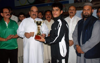 جونیئراوپن آل پاکستان ٹیبل ٹینس چیمپئن شپ خیبرپختونخوا کے فہد خواجہ چترالی نے جیت لی