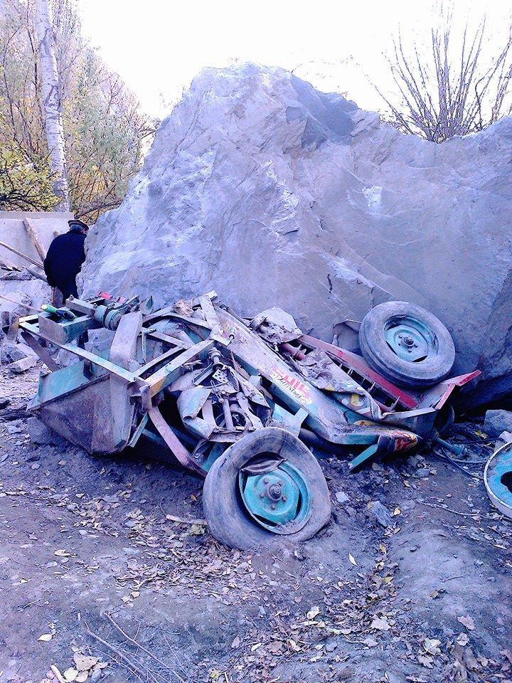 وادی یاسین میں پہاڑ گرنے سے تباہی مچ گئی