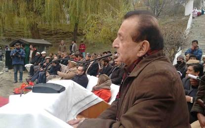 عطاآبادجھیل سے 18 میگاواٹ بجلی پیدا کی جائے گی، گورنر میر غضنفر علی خان