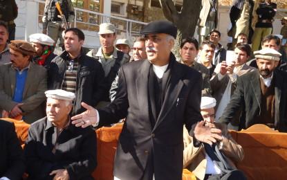 قائد حزب اختلاف سید خورشید شاہ کا دورہ ، اجلاس میں شرکت کی اجازت نہ ملنے پر کارکن ناراض