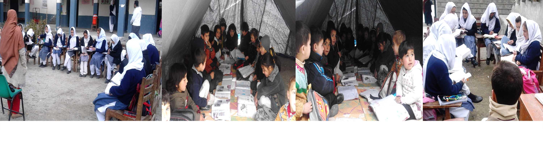 ہنزہ، گورنمنٹ گرلز ہائی سکول کی طالبات زلزلے کے بعد سےکھلے آسمان تلے تعلیم حاصل کرنے پر مجبور