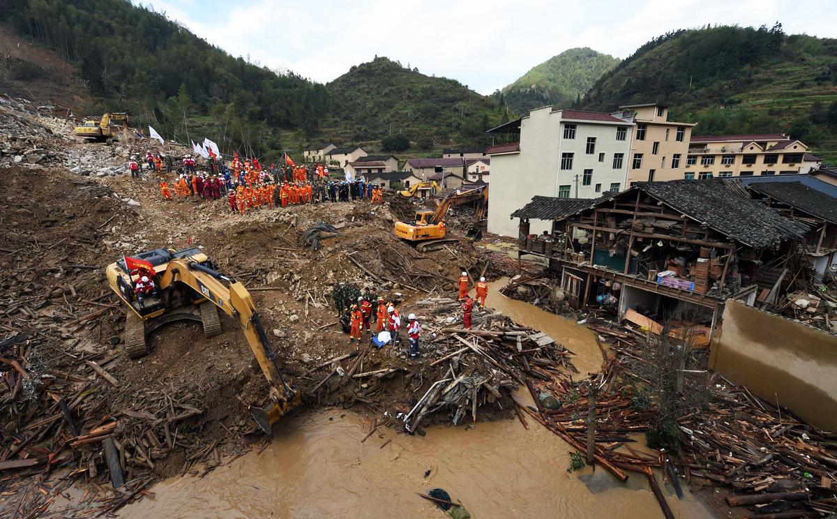 میانمار میں مٹی کا تودہ زمین میں دھنس جانے سے کم سے کم 90 افراد ہلاک