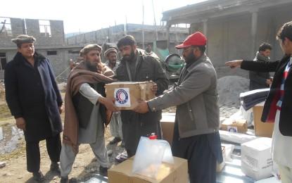 ہلالِ احمر گلگت بلتستان نے وادی تانگیر میں زلزلے سے متاثرہ 60 خاندانوں میں امدادی اشیا تقسیم کیں