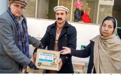 ہلال احمر کی جانب سے ضلع غذر میں زلزلہ متاثرین میں امدادی اشیاء تقسیم