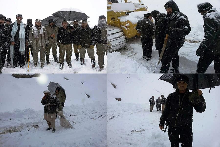لواری ٹاپ: برفباری کی وجہ سے پھنسے ہوئے مسافروں کو با حفاظت ریسکیو کر لیا گیا
