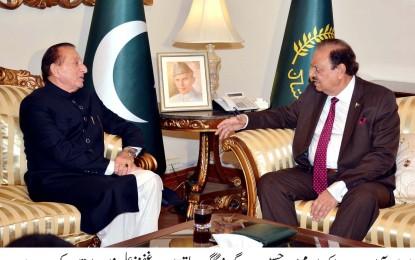 گورنر گلگت بلتستان میر غضنفر علی خان کی صدر پاکستان ممنون حسین سے ملاقات