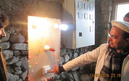بونی گول لوٹ دور میں اپنی مدد آپ کے تحت تعمیر شدہ بجلی گھر کا افتتاح کردیاگیا