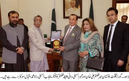 گورنر گلگت بلتستان کی سپیکر پنجاب اسمبلی سے ملاقات، خصوصی دعوت پر اسمبلی سیشن میں بھی شرکت کی