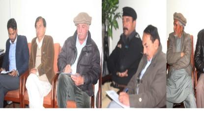 یوم پاکستان شایان شان طریقے سے منانے کے لئے ہنزہ ضلعی انتظامیہ کا اجلاس
