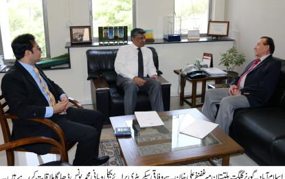 گورنر گلگت بلتستان سے وفاقی سیکریٹری برائے پانی و بجلی یونس ڈھاگا کی ملاقات