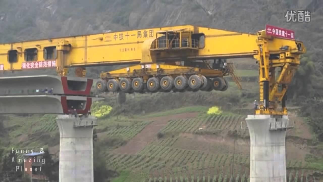پل بنانے والی حیران کن مشین