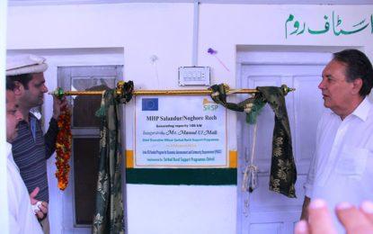 چترال کے دیہات نوغورریچ اور رُوا ریچ میں 100,100کلو واٹ کے دو بجلی گھروں کا افتتاح