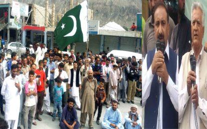 ہنزہ کے ضلعی ہیڈکوارٹر علی آباد میں بھارت مخالف احتجاجی جلسہ، پاکستان کے ساتھ مکمل وفاداری کا عہد کیاگیا