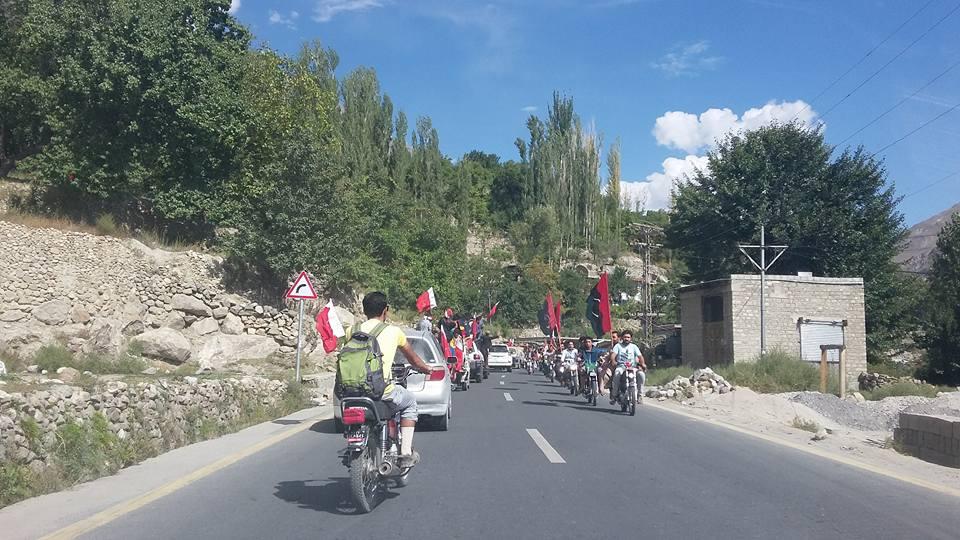 انتخابات سے دو دن قبل ہنزہ میں امیدواروں کی ریلیاں، جلسے