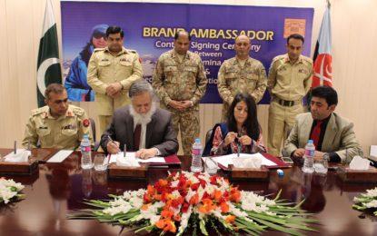 معروف کوہ پیما ثمینہ بیگ سپیشل کمیونیکیشن آرگنائزیشن  کی برانڈ ایمبیسڈر بن گئی