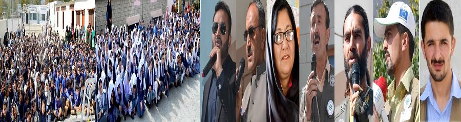 ہنزہ میں زلزلے سے بچاو کی مشق، سرکاری اور غیر سرکاری سکولوں کے ہزاروں طلبہ و طالبات نے حصہ لیا