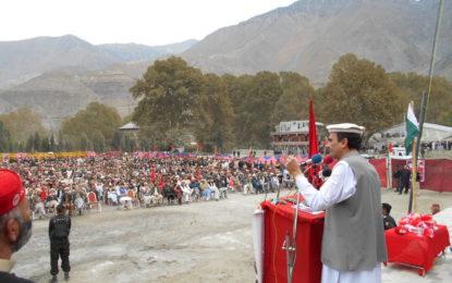 چترال میرا دوسرا گھر ہے، اقتدار میں آکر مسائل حل کروں گا،  ۔سابق وزیراعلیٰ امیر حیدر خان ہوتی کا جلسہ عام سے خطاب