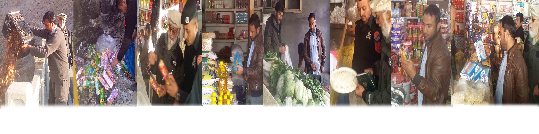 ہنزہ، فوڈ انسپکٹر نے علی آباد میں کاروباری مراکز پر چھاپے مار، غیر معیاری اشیا تلف، جرمانے عائد
