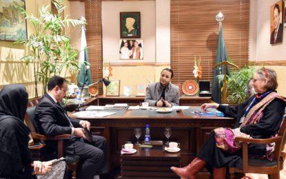 اسلام آباد: وزیر اعلیٰ گلگت بلتستان کی پاکستان میں یونیسف کی سربراہ انجیلینہ کیر سے ملاقات