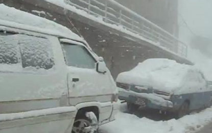 استور کے بالائی علاقوں میں تین سے چار فٹ برف پڑچکی ہے