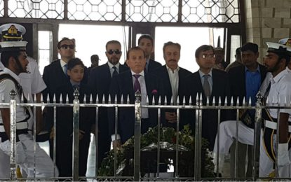 گورنر گلگت بلتستان میر غضنفر علیخان نے مزار قائد پر حاضری دی، گورنر سندھ سے ملاقات کی