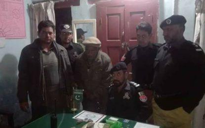 گانچھے: پولیس کی منشیات فروشوں کے خلاف کارروائی،ملزم چرس سمیت گرفتار