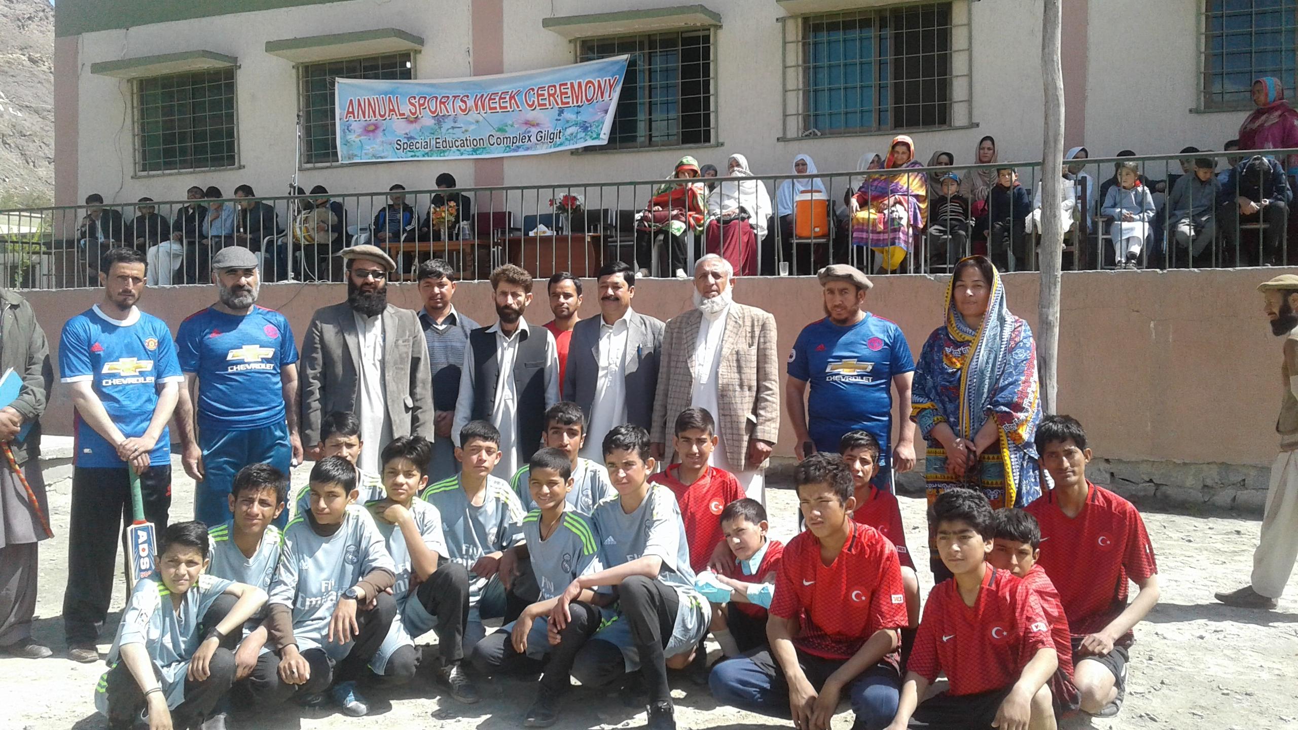 اسپیشل ایجوکیشن کمپلکس گلگت میں اسپورٹس ویک کا آغاز