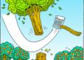 انوکھا انتقام: ذاتی دشمنی کی بنیاد پر ایک شخص نے 300 پھلدار درخت کاٹ ڈالے