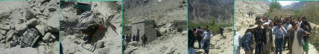 حسن آباد ہنزہ میں زمینی تودہ گرنے سے درجن سے زائد مویشی ہلاک، شاہراہ قراقرم پانچ گھنٹے تک بند رہا