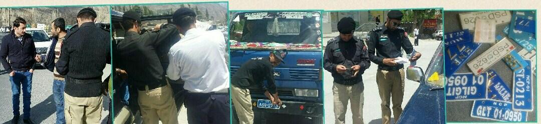 ہنزہ : محکمہ ایکسائز کا گاڑیوں کے خلاف کریک ڈاؤن