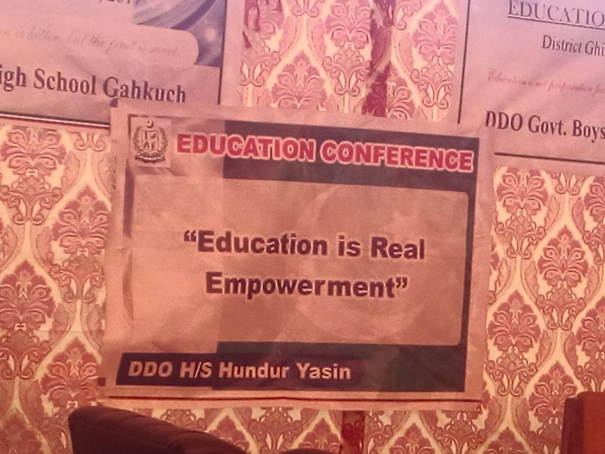 غذر میں پہلی تاریخ ساز تعلیمی کانفرنس