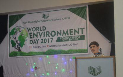 آغا خان ہائر سیکنڈری سکول سین لشٹ چترال میں عالمی یوم ماحولیات پر تقریب منعقد