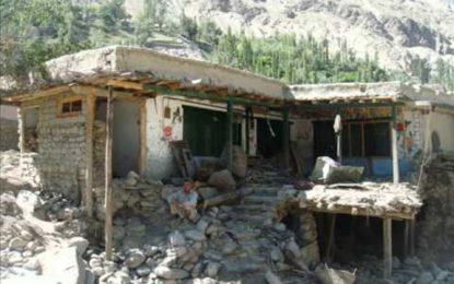 گھانچے کا گاوں تلس ایک بار پھر سیلاب کی زد میں، ایک خاتون جان بحق، چار مکانات تباہ ہو گئے