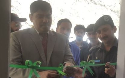 سوست گوجال میں ایکسائز اینڈ ٹیکسیشن چیک پوسٹ کا افتتاح