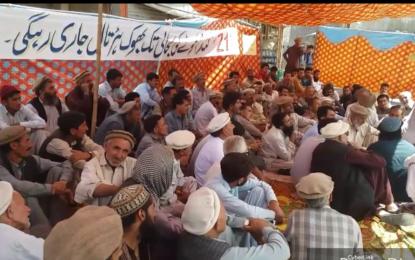غذر میں گندم کی عدم دستیابی کے خلاف احتجاج، گاہکوچ میں بھوک ہڑتال کیمپ کا آغاز